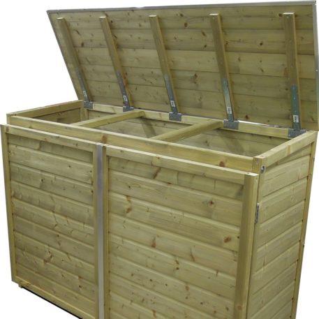 Containerombouw Trio 120 deksel geopend