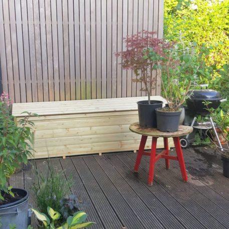 tuinkist pandora op het terras
