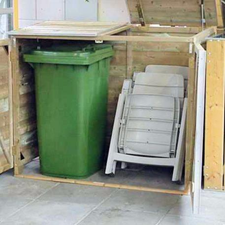 Container ombouw Twin 260 ook als berging