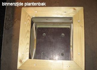 De plantenbak is voorzien van waterafvoergaten