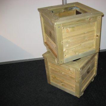 2x Plantenbak Vierkant 404040