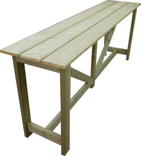Tuintafel 200 geheel van hout