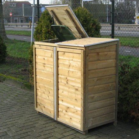 Container ombouw Twin 240 heeft beweegbare deksels