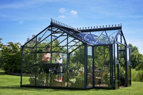 Glazen tuinhuis Orangery 152 antraciet 439x373-31829