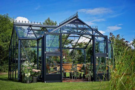 Glazen tuinhuis Orangery 152 antraciet 439x373-31822