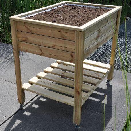 Planter on Wheels een handige kweektafel op stahoogte