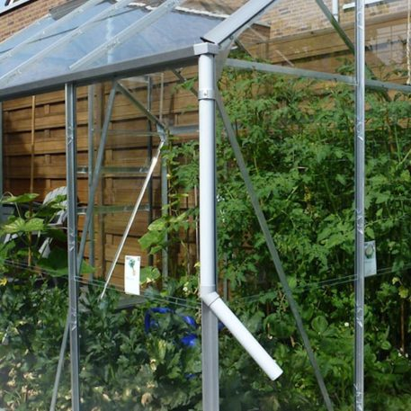Vang het regenwater op met een regenpijp afvoer optioneel