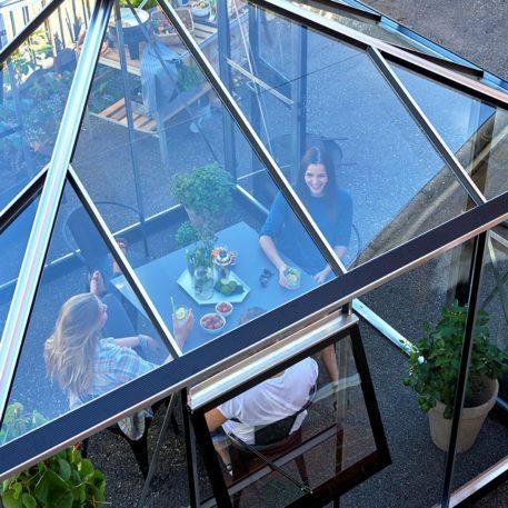 Glazen dak in de Oase 88