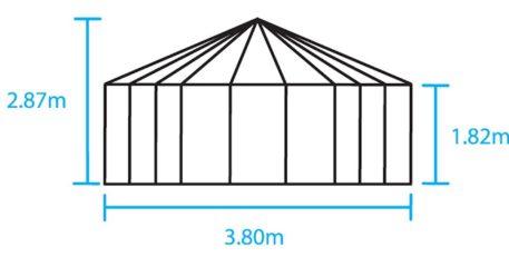 Schets van Tuinprieel Atrium