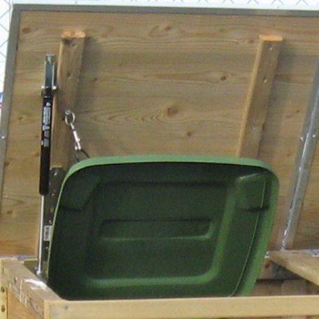 Optioneel zijn de handige gasveren om het deksel makkelijk te openen en te sluiten