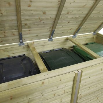 Containerombouw Trio 260 deksel bovenaanzicht kliko's