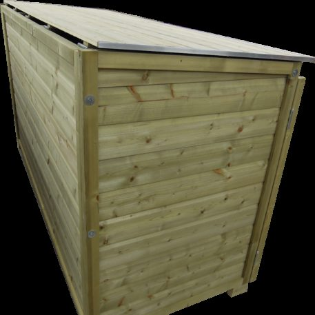 Zijaanzicht container ombouw Trio 260