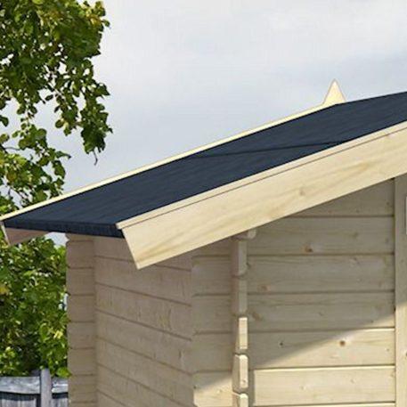 tuinhuis Gregor is voorzien van zwartgrijs dakleer