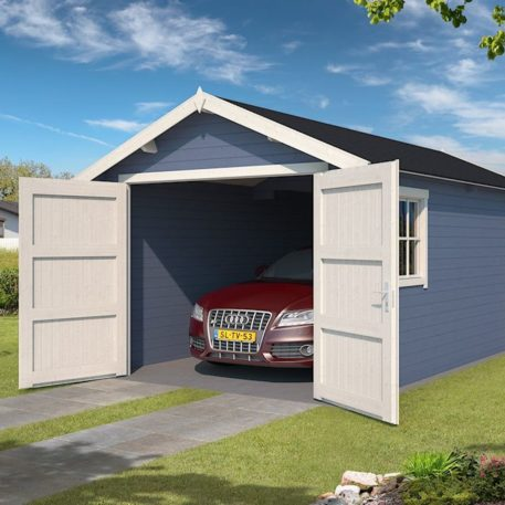 Garage en tuinhuis Dillon 300x540 in Pigeon blue