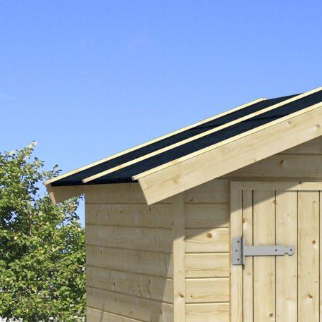 dakleer op dak van tuinhuis Tygo