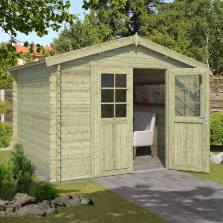 Tuinhuis Norah 275x230 275x230 cm groen gedompeld