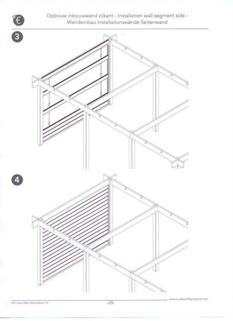 schets van opbouw zijwanden