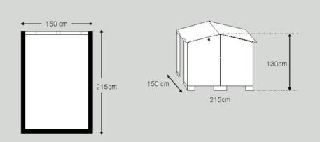 Schets van Fietsberging Solida 150