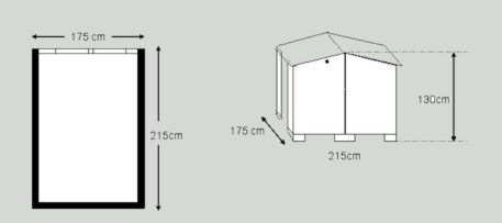 Schets van Fietsberging Solida 175