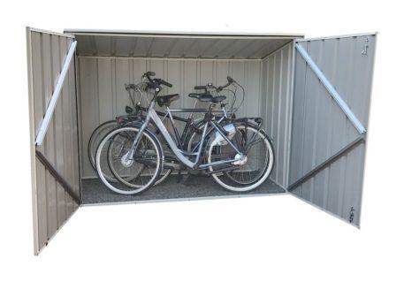 Metalen fietsberging