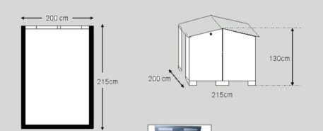 schets van fietsenberging Solida 200