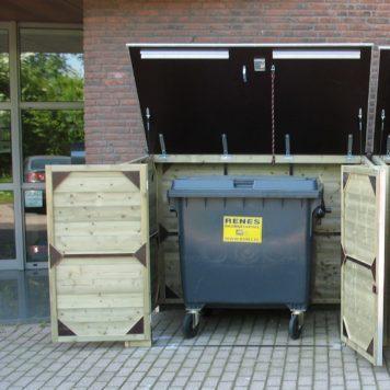 Berging voor bedrijfsafval container 170x105 x 145/150cm