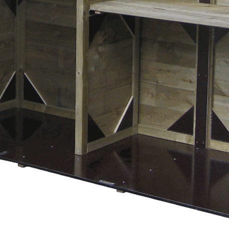 watervaste betonplex bodemplaat in tuinkast Solida