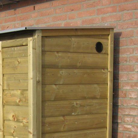 Ventilatierooster in zijwand bij Hoge tuinkast Solida 12582180
